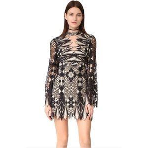 Free People Art Deco Lace Mini Dress